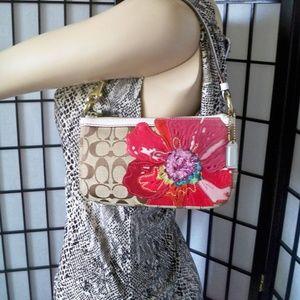 COACH #6264 Signature Poppy Demi Clutch Bag